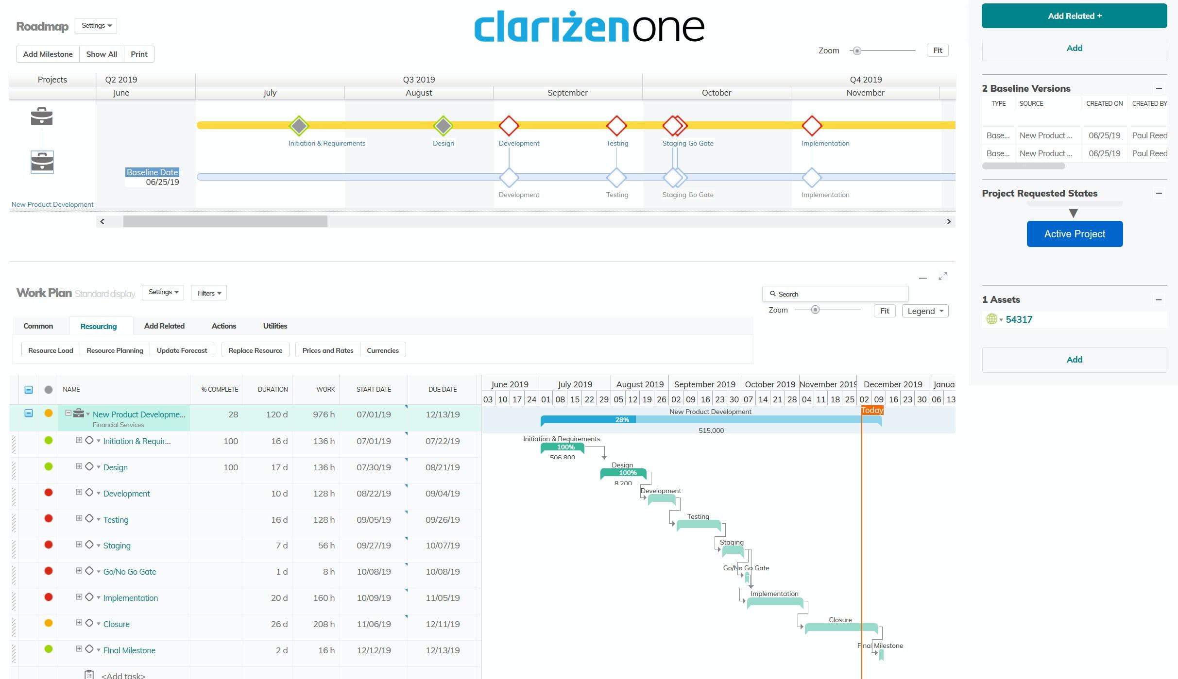 Clarizen gestion de projet