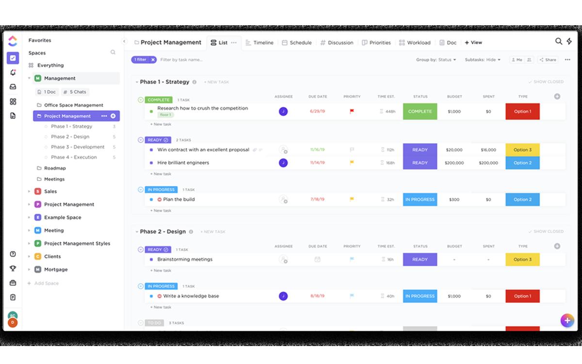 ClickUp gestion de projet