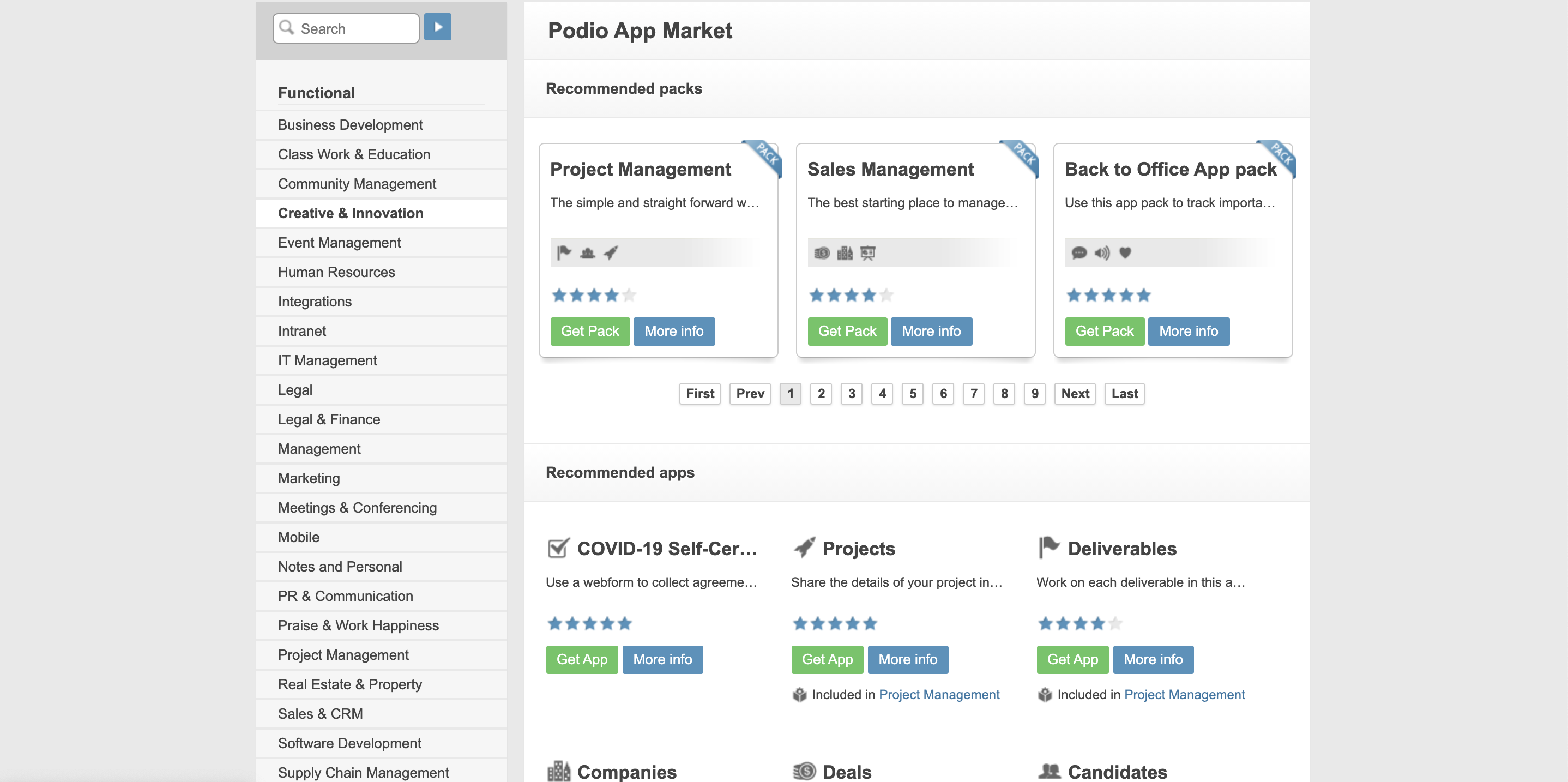 Podio App Market